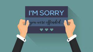 Não peça desculpas