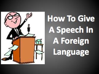 How to a speech