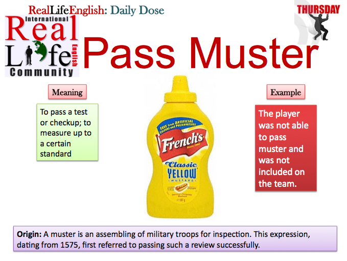 Pass Muster About English Idioms