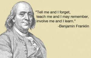 Tell me and I forget-ben franklin