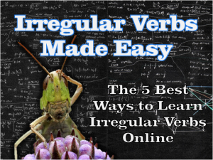 irregular verbs made easy