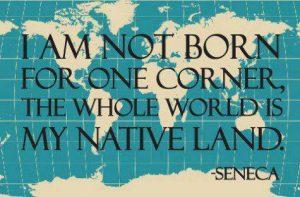 Be a world citizen