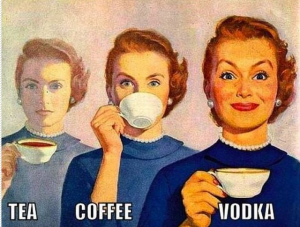 tea coffee vodka