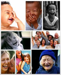 laughter collage